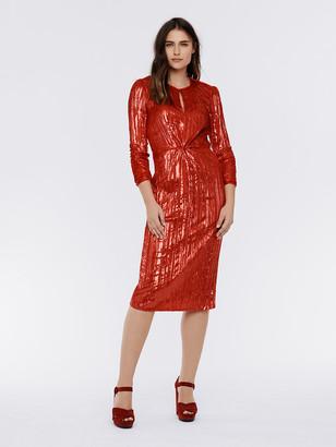 Diane von Furstenberg Mallory Lucido Velvet Dress