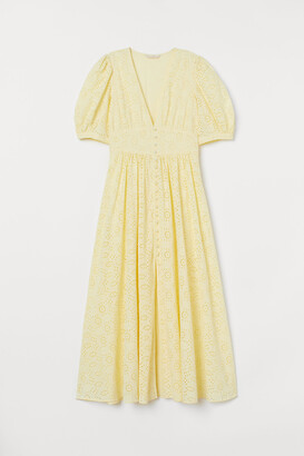 H&M Embroidered cotton dress