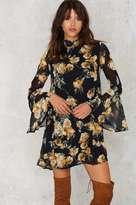 Factory Marina Floral Bell Sleeve Dress