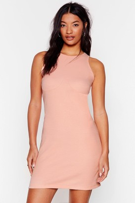 Nasty Gal Womens Hit the Floor Racerback Mini Dress - Beige - 4