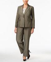 Le Suit Plus Size Tonal Pinstripe Pantsuit