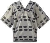 Vivienne Westwood v-neck blouse - women - Cotton/Polyester/Metallic Fibre - M