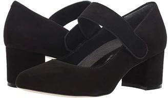 Walking Cradles Jackie-2 (Black Suede) Women's Shoes