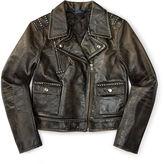 Ralph Lauren 7-16 Leather Moto Jacket