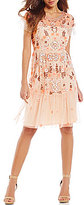 Gianni Bini Penny Round Neck Short Sleeve Floral Sequin Dress