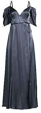 Fame & Partners Women's The Mavis Cold-Shoulder Long Wrap Dress