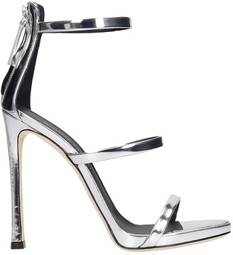 Giuseppe Zanotti Harmony Sandals In Silver Leather