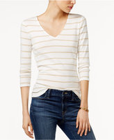 Tommy Hilfiger Luisa Metallic Striped Top, Only at Macy's