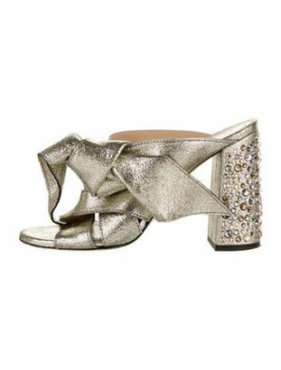 Chloé Leather Slides Metallic