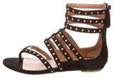 Alaia Suede Multistrap Sandals