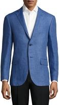 Corneliani Men's Solid Notch Lapel Sportcoat
