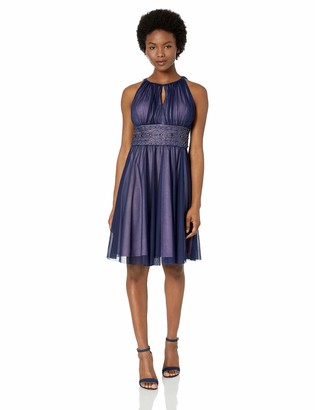 Jessica Howard JessicaHoward Women's Petite Keyhole Sleeveless Dress