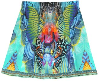 Camilla Kids Printed cotton and silk skirt