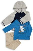 Kids Headquarters Boys 2-7 Fleece Jacket, Tee and Chinos Set