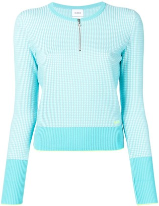 Barrie waffle-knit fitted sweater