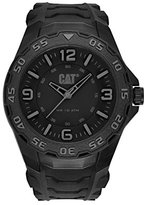 Caterpillar CAT Motion Men's Quartz Watch with Black Dial Analogue Display and Black Rubber Strap LB.111.21.131