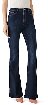 DL1961 Rachel Flared High-Rise Jeans in Foster