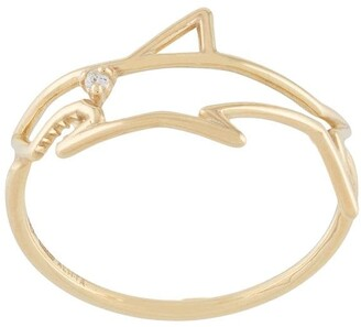 ALIITA 9kt yellow gold Tiburon Brilliante diamond ring