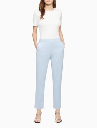Calvin Klein Polished Slim Fit Cropped Pants