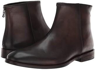 John Varvatos NYC Back Zip Boot (Black) Men's Boots