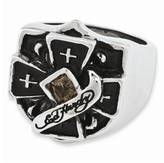 Ed Hardy Smokey Quartz Ring