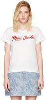 Marc Jacobs Ivory Glitter Logo T-shirt