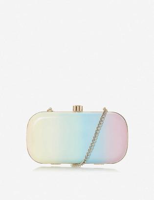 Dune Bonique rainbow-print clutch bag
