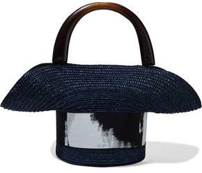 Eugenia Kim Evie Painted Grosgrain-trimmed Straw Tote