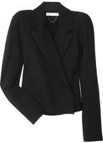 Strong-shouldered cotton-blend jacket