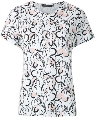 Andrea Marques printed batwings T-shirt