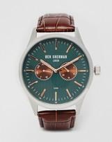 Ben Sherman Leather Strap Watch