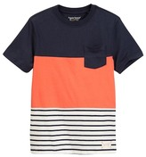 Tailor Vintage Color Blocked Stripe Jersey Tee (Little Boys & Big Boys)