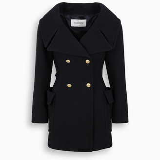 Valentino Double-breasted V-neck caban coat