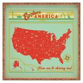 DENY Designs Anderson Design Group Explore America Square Tray - Red