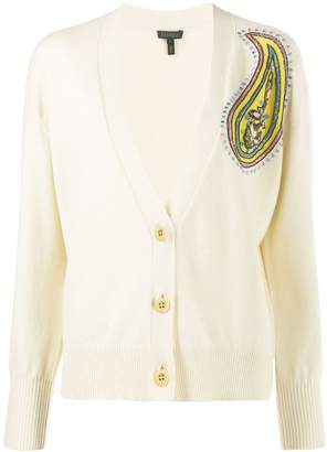 Escada knitted embroidered cardigan