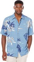 Cubavera Short Sleeve Rayon Floral Print Shirt