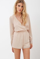 Forever 21 Sequined-Cuffs Chiffon Romper