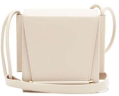 Roksanda Box Leather Cross-body Bag - Ivory