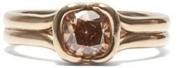 Fernando Jorge Cushion Diamond & 18kt Beige-gold Ring - Beige Gold