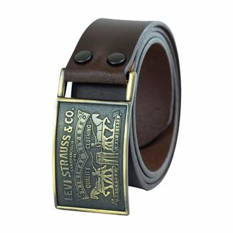 Levi's Men's 1 1/2 in.Plaque Bridle Belt With Snap Closure