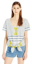 Plenty by Tracy Reese Women's Tie Front Tee
