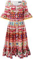 Dolce & Gabbana Mambo print peasant dress