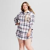 Women's Plus Size Pajamas Harry Potter Boyfriend Shirt - Ivory/Navy/Plum