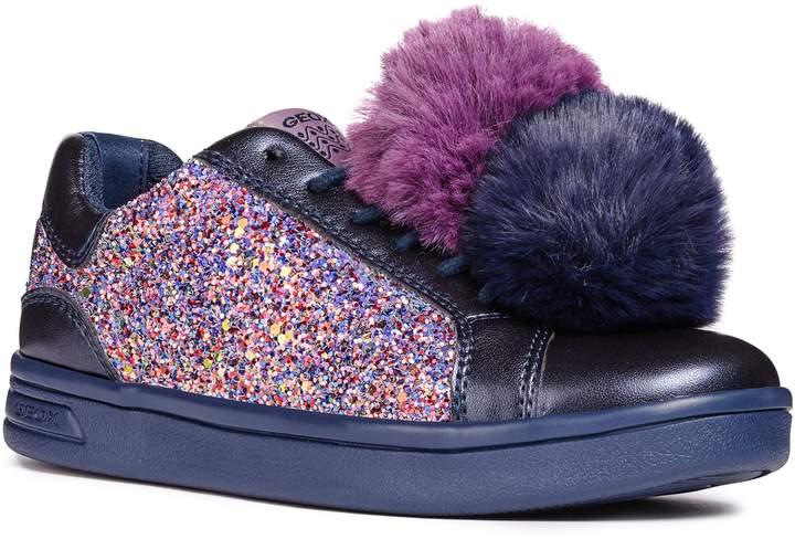 Geox DJ Rock Glitter Pompom Sneaker