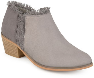 Journee Collection Moxie Frayed Ankle Bootie