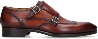 Magnanni Burnished Double Monk Derby Shoes