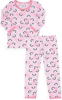 Esme Panda-Print Cotton-Blend Jersey Pajamas-PINK