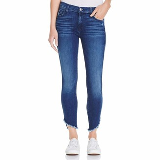 7 For All Mankind Women's Ankle Skinny Jean with Raw Angled Hem Pants