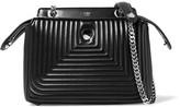 Fendi Dotcom Click Quilted Leather Shoulder Bag - Black
