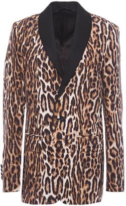 R 13 Leopard-print Woven Blazer